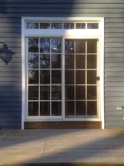 Marvin Sliding Patio Door With Top Transom Bernardsville Nj Marvin Patio Doors