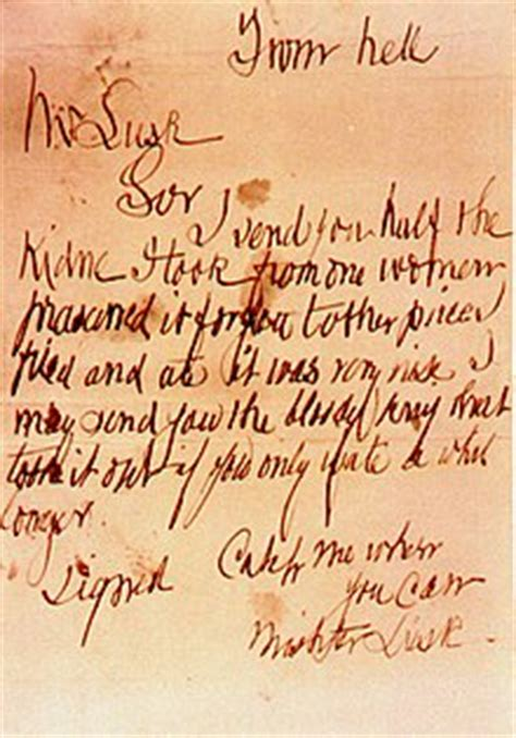 from hell letter wikipedia