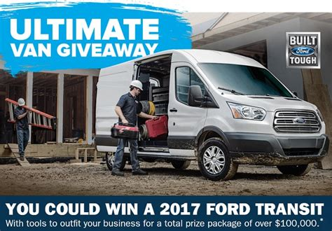 Vans Giveaway 2017 - ford ferguson ultimate van giveaway sweepstakes sweepstakesbible