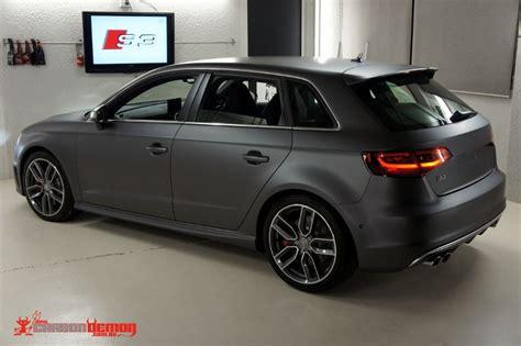 Audi A3 Sportback Fußmatten by Audi S3 Matte Metallic Grey Vinyl Wrap Car