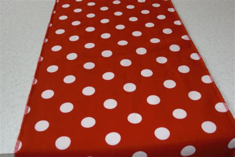 and white polka dots table runner by bourgebride on etsy