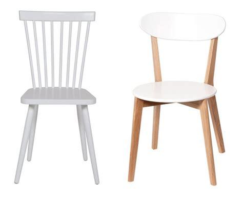 chaise bois et blanc pour une d 233 co scandinave