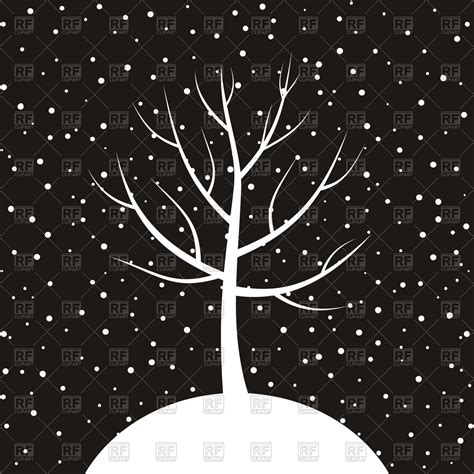 winter white tree white tree on winter background royalty free vector clip