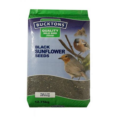 bucktons black sunflower wild bird seed 12 75kg feedem