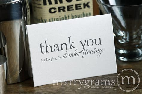 Thank You Letter For Bartender Wedding Card To Your Bartender Thank You For By Marrygrams 4 00 My Wedding