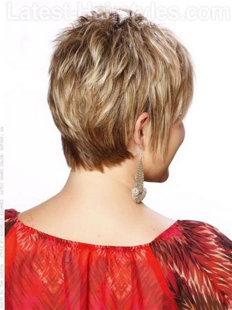 Short Wispy Haircuts For Older Women | back view of short haircuts for women