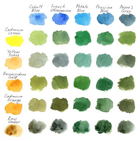 different color greens 3 ways of painting shades of green watercolor