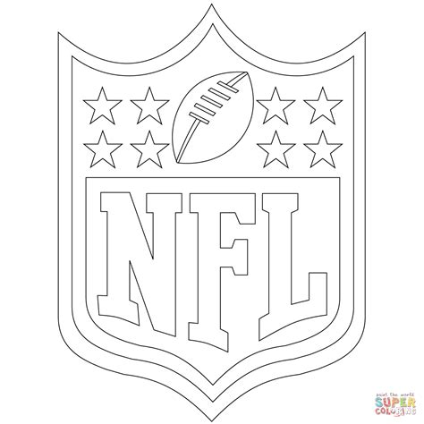 nfl coloring pages nfl logo coloring page free printable coloring pages