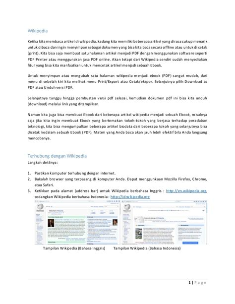 membuat artikel wikipedia membuat buku format pdf dari wikipedia