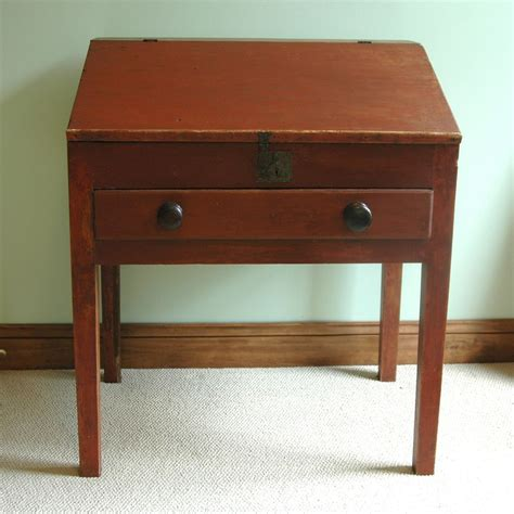 19th century painted slant front desk from asgoodasold