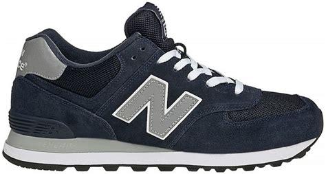 Telat Mens Gara Gara Ml Sneaker New Balance 574 Core Suede Mesh Blu Grigio Nbm574