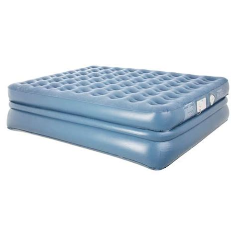queen size inflatable bed aerobed 9323 queen size raised quadra coil air mattress