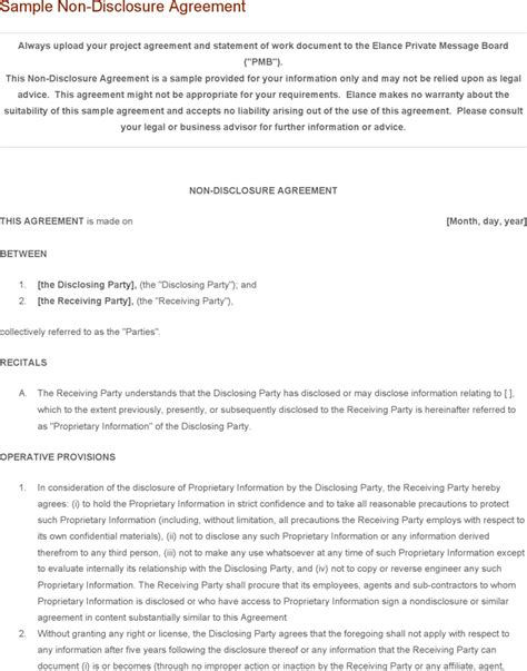 cda agreement template non disclosure agreement template template free