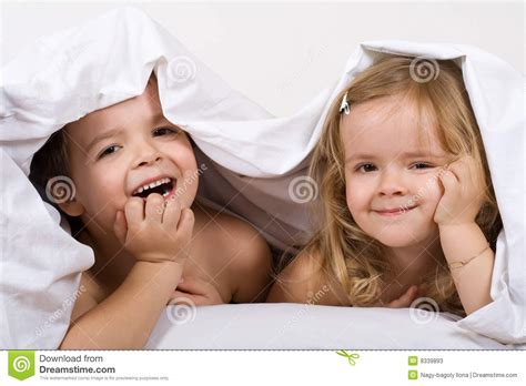 fun in bed kids having fun in the bed stock photos image 8339893