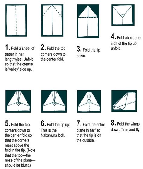 How To Make A High Flying Paper Airplane - how to make a paper airplane jet