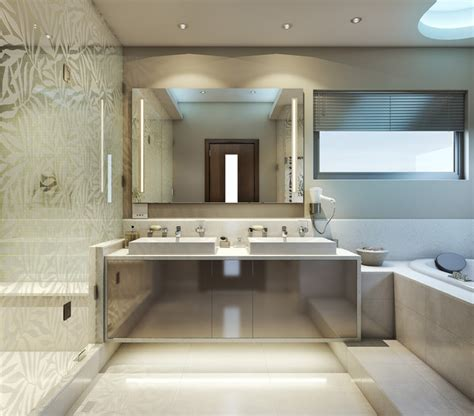 cool modern bathrooms super cool bathroom contemporary rendering other