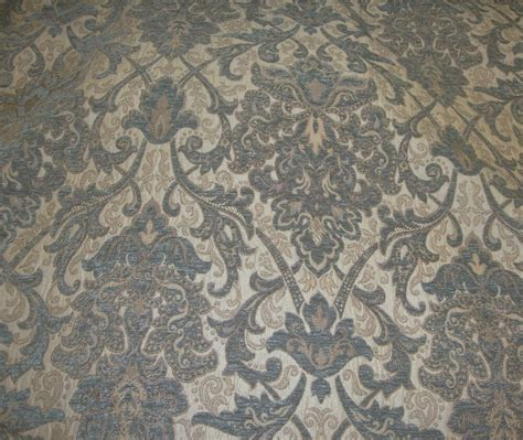 Black Chenille Upholstery Fabric - chenille upholstery 57 quot wide royalty damask drapery fabric