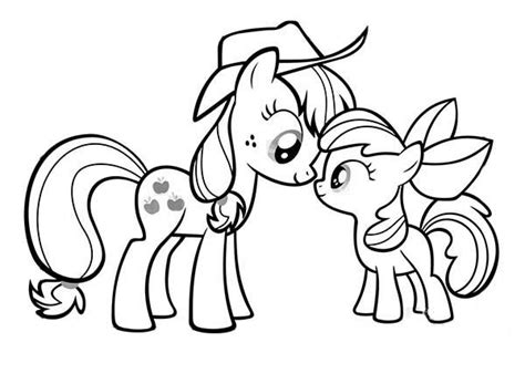 applejack coloring pages my little pony applejack and apple bloom coloring page
