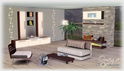 Sims 2 Living Room Sets My Sims 3 Omega Living Room Set By Simcredible Designs