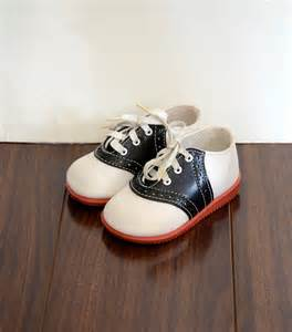 Infant Shoes Vintage Unisex Baby Saddle Shoes Infant Size 3 4