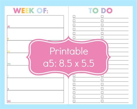 free printable student planner 2015 16 large 2015 2016 weekly planner in custom colors with