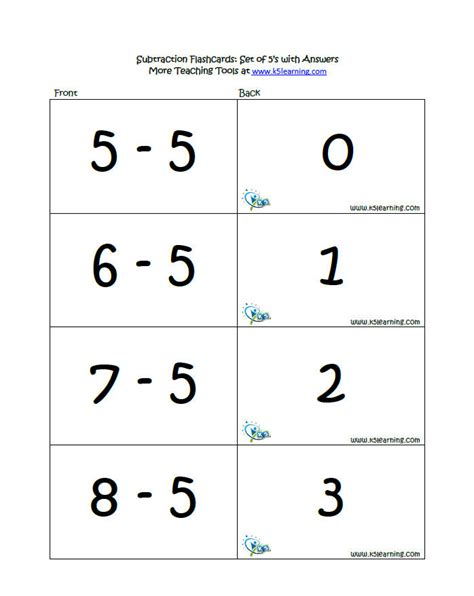 printable flashcards for addition and subtraction addition and subtraction flash cards printable free