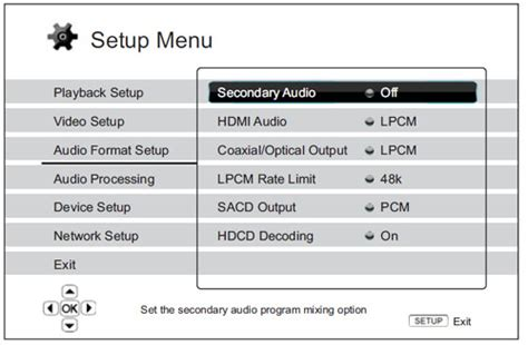 audio format bitstream or pcm setup guide outlaw audio model 990 and oppo digital bdp 93