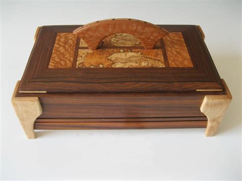 Handmade Decorative Boxes - a unique jewelry box handmade of woods makes the