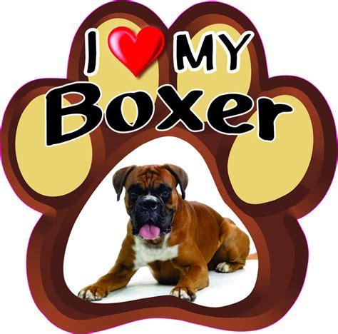 i my puppy i my boxer bumper sticker paw 187 ebay