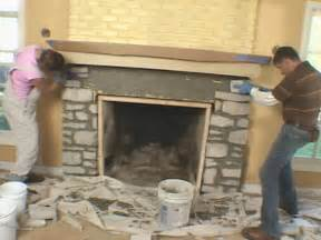install a fireplace mantel and add veneer facing
