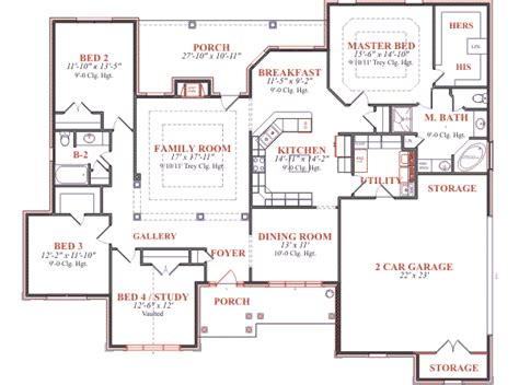 floor plan blueprint house 7728 blueprint details floor plans