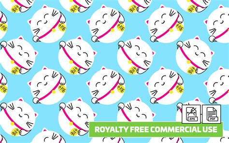 cat paper pattern and marks distribution lucky cat seamless vector pattern royalty free paper