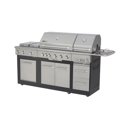 lowes gas grills shop nexgrill 5 burner gas and charcoal grill at lowes