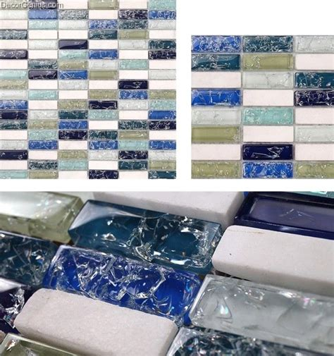 cracked glass tile backsplash cracked glass kitchen tile decoration bathroom floor