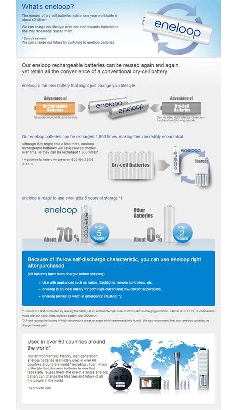 Panasonic Eneloop Aa 2000mah 4pcs Kapasitas 2000mah Original panasonic eneloop 2hrs charger 4pcs aa 2000mah recharge battery