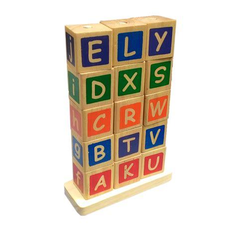 Mainan Edukatif Sni Menara Huruf menara huruf mainan kayu