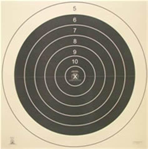 500 Yard Target Size by High Power Rifle Shooting Targets American Target Company