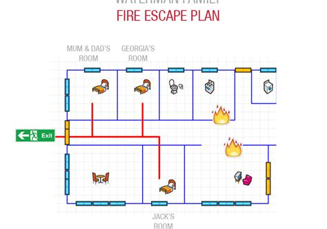 fire escape plans for home fire escape plan make your own with cavius smoke alarms