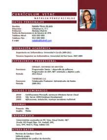 Curriculum Vitae Online Gratis by Ejemplos Y Plantillas De Curriculum En Ingl 233 S Trabajar En