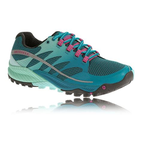 running shoes cushion merrell allout charge womens blue trail cushion running