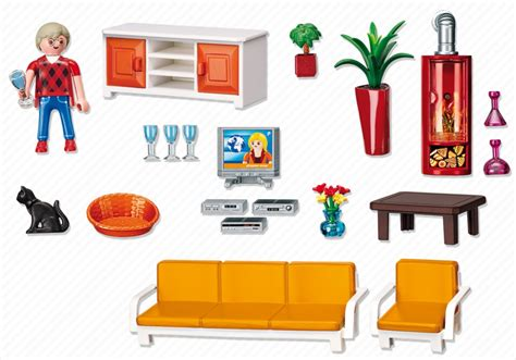 Playmobil Wohnzimmer 5332 playmobil dollhouse living room 5332 playzone be