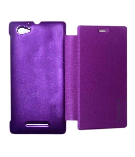 Flip Cover Sony Experia M ddf flip cover for sony xperia m purple available at