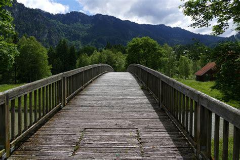 stock photo  bridge footbridge path