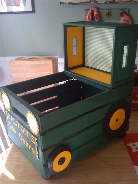 john deere toy box bench toy boxes toys and trains on pinterest