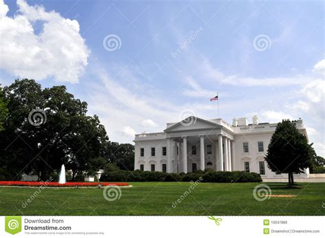 independence day white house white house on independence day royalty free stock image image 10047886