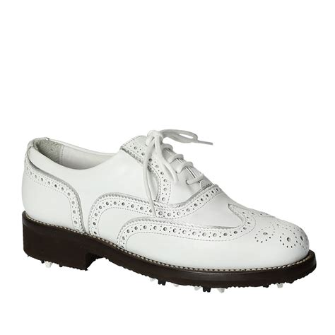 Handmade Leather Golf Shoes - handmade white leather golf shoes wingtip brogues