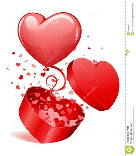 imagenes de corazones saliendo del pecho heart gift open with fly hearts and balloon royalty free