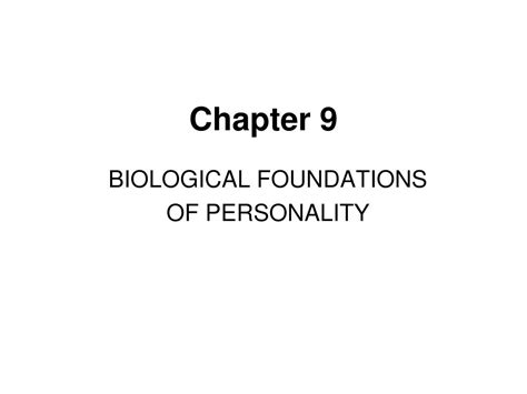 the foundations of personality books ppt chapter 9 powerpoint presentation id 373623