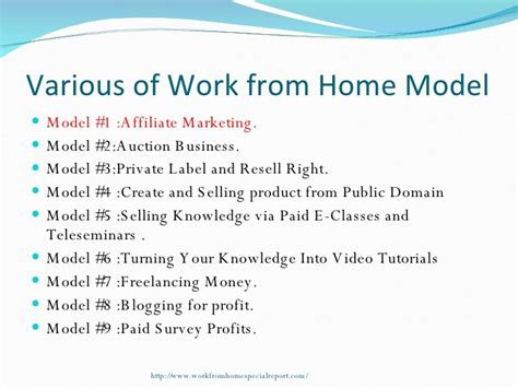 Online Business Work From Home - online work from home business model