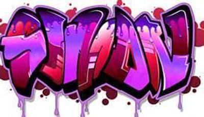 attractive graffiti purple color designs ideas